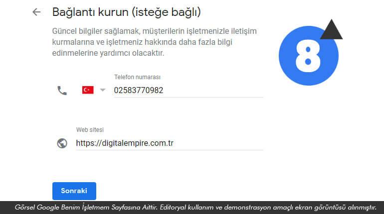 Google Konum Ekleme